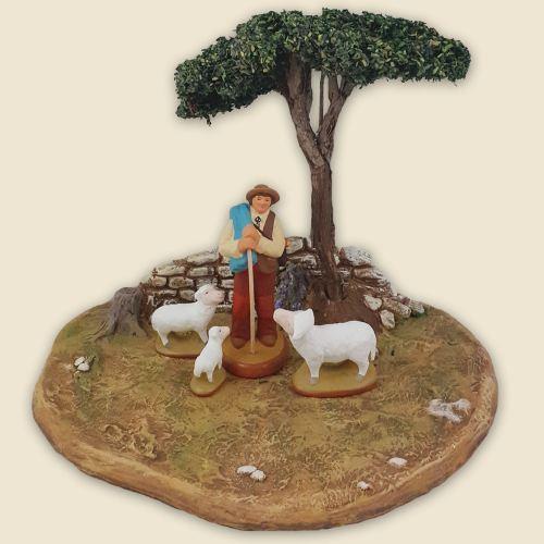 Théodore, le berger en scénette 9 cm