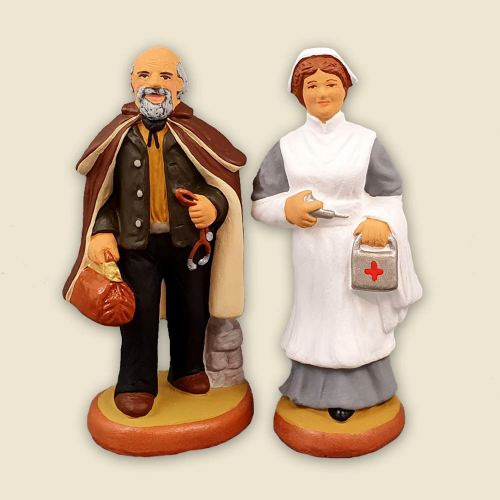 Doctor and Nurse 9 cm