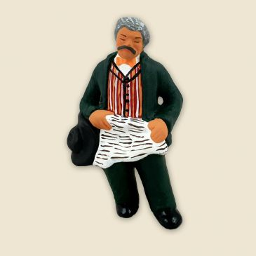 Grand-father asleep - Figurine to be sitted
