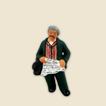 Grand-father asleep - Figurine to be sitted 6 cm