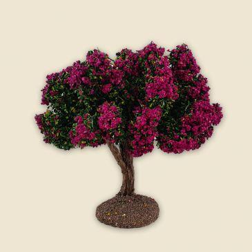 Arbre fleuri fushia
