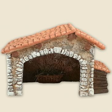 Two-sloped roof cowshed (all clay)