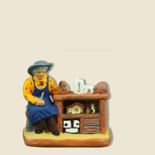 image: Crib figurine maker Paul Fouque