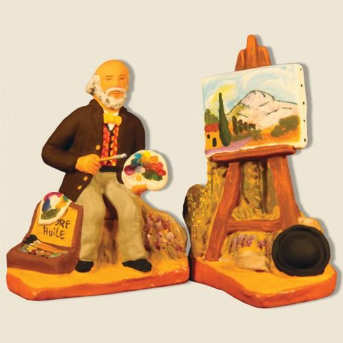 image: Grand peintre aixois et son chevalet
