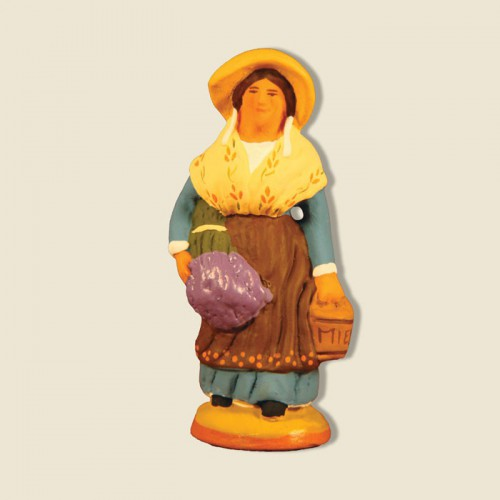 image: Woman carrying lavender