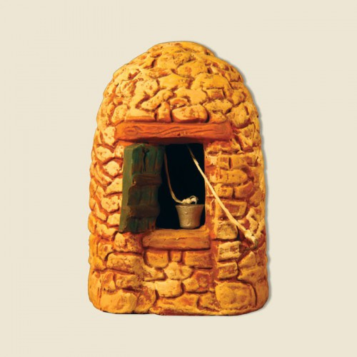 """image: Well in a stone hut called """"Borie"""" (all clay)"""