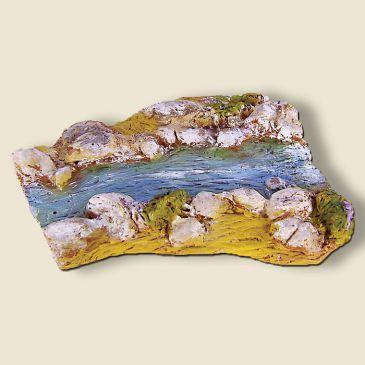 Rivière coudée (portion) plâtre pour pont