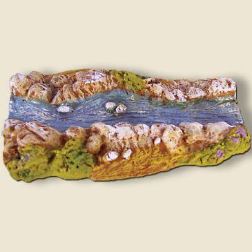 Rivière droite (portion) plâtre haute densité