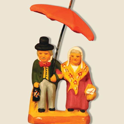 image: Couple with umbrella