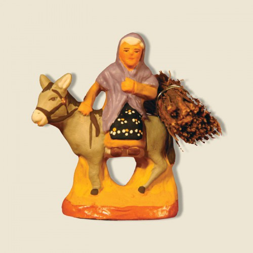 image: Woman on a donkey