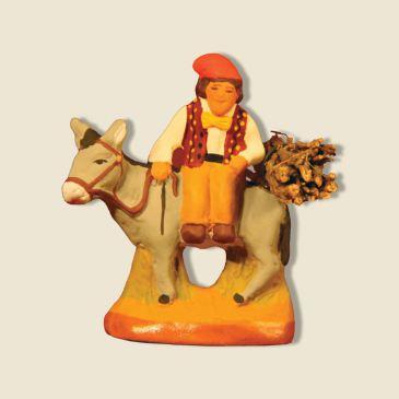 Homme sur l'âne 4 cm