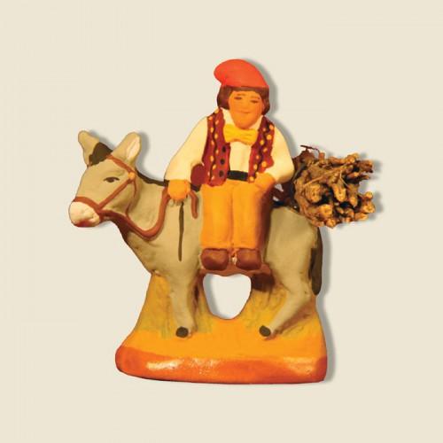 image: Man on a donkey