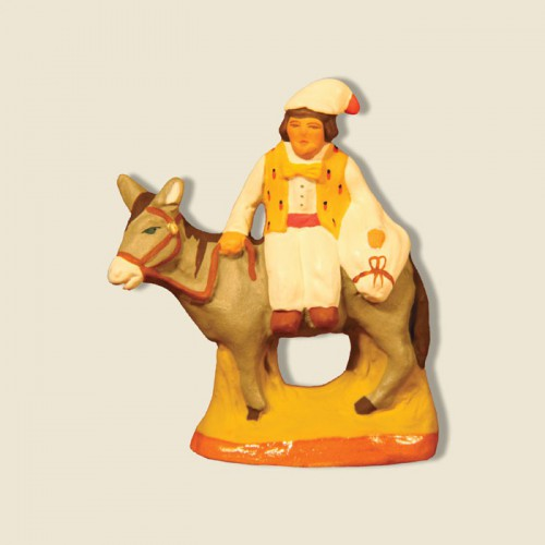 image: Miller on a donkey with a sack of flour