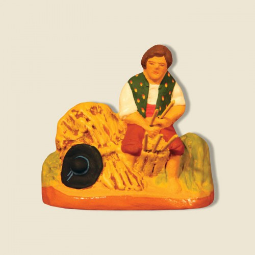 image: Vincent, Basket maker at work