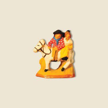Gardian et arlésienne à cheval 2 cm