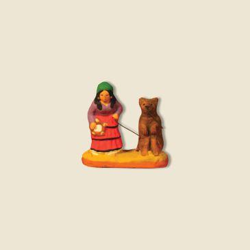 Gitane avec un ours 2 cm
