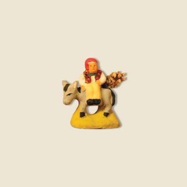 Homme sur âne avec fagot 2 cm