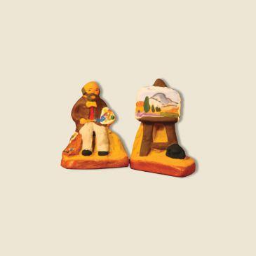 Grand peintre aixois et son chevalet 2 cm