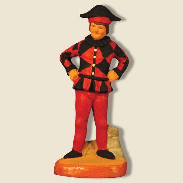 image: Arlequin rouge-noir