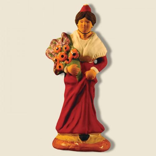 image: Arlésienne avec bouquet