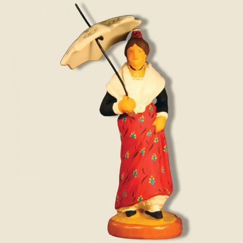 image: Arlésienne avec ombrelle (rouge)