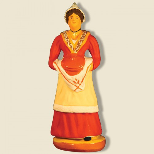 image: Woman carrying provencal dish