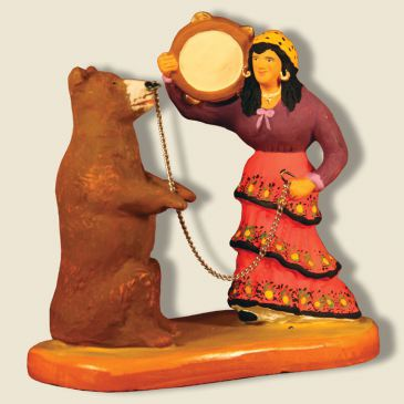 image: Gypsy woman with a bear