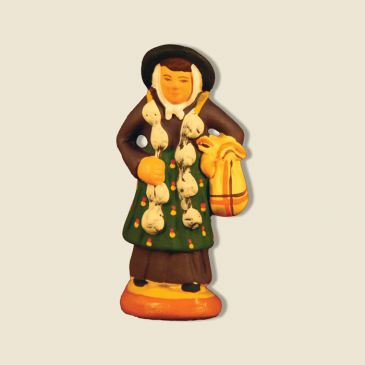 image: Woman carrying garlic