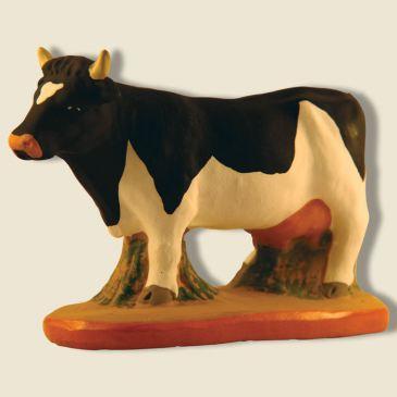 Vache Marguerite noire et blanche 9 cm