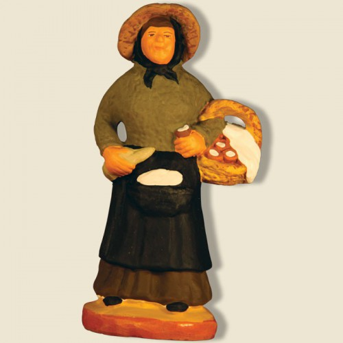 image: Saleswoman of farmer's cheese