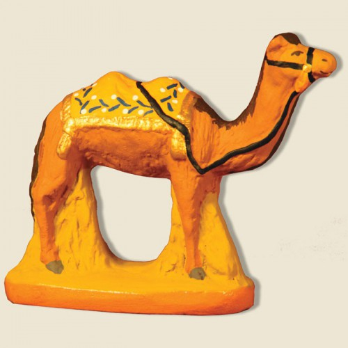 image: Camel with yellow blanket