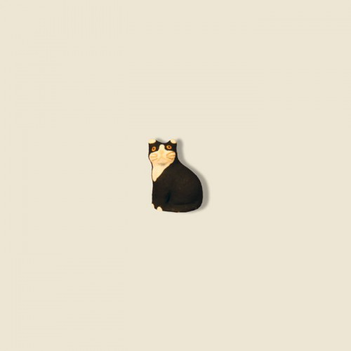 image: Chat noir assis