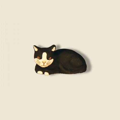 image: Chat couché noir