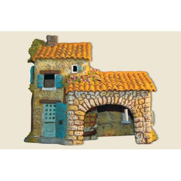 image: Farmhouse with cowshed (clay)