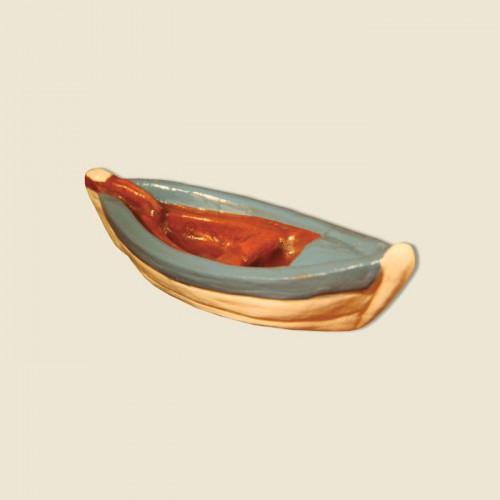 image: Barque du pêcheur (argile) bleue
