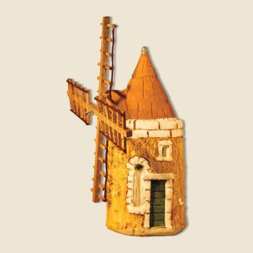 Moulin de 15 cm pour santons 4 cm (argile)